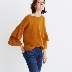 NWT Madewell Tier Sleeve Pullover Sweater Medium